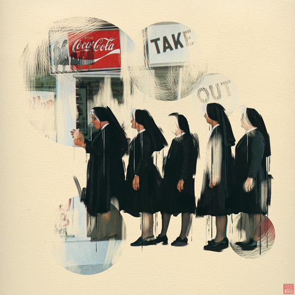 Lizzie Gill, nuns with coca cola