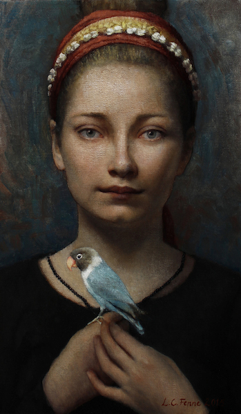 Louise C. Fenne, Christine-with-Lovebird-no.-2