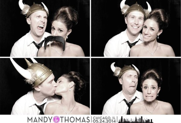 Mandy and Thomas, silly faces