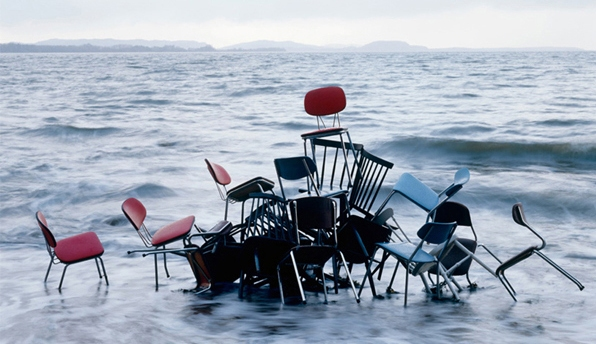 Rune Guneriussen, chairs in water