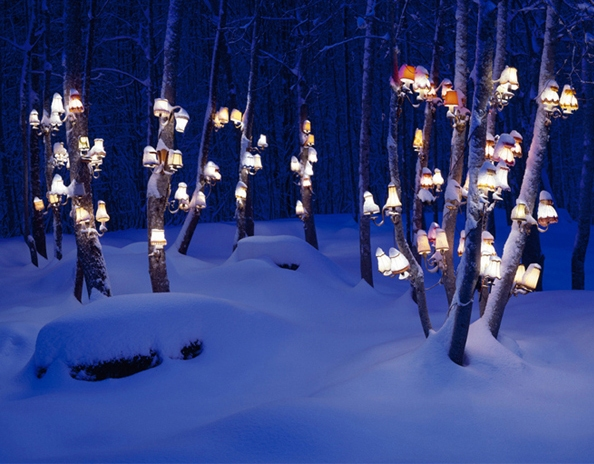 Rune Guneriussen, snow and lamps
