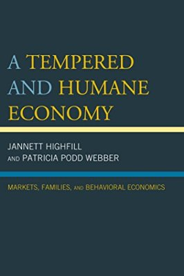 A Tempered and Humane Economy book cover