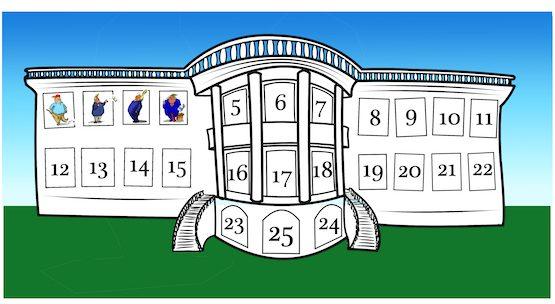 Cartoon by Phil Maish: White House advent calendar