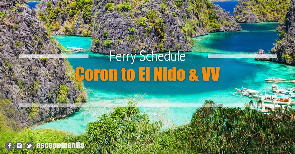 Coron to El Nido Boat Schedule and Fare Rates [2020]