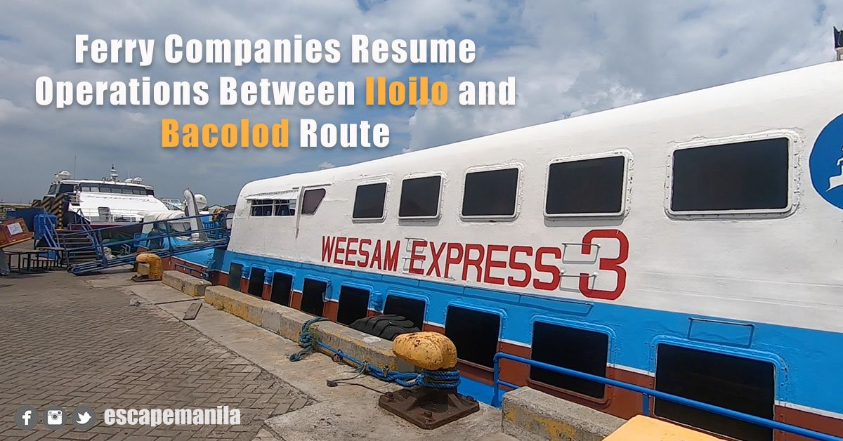Ferry Companies Resume Operations Between Iloilo and Bacolod Route