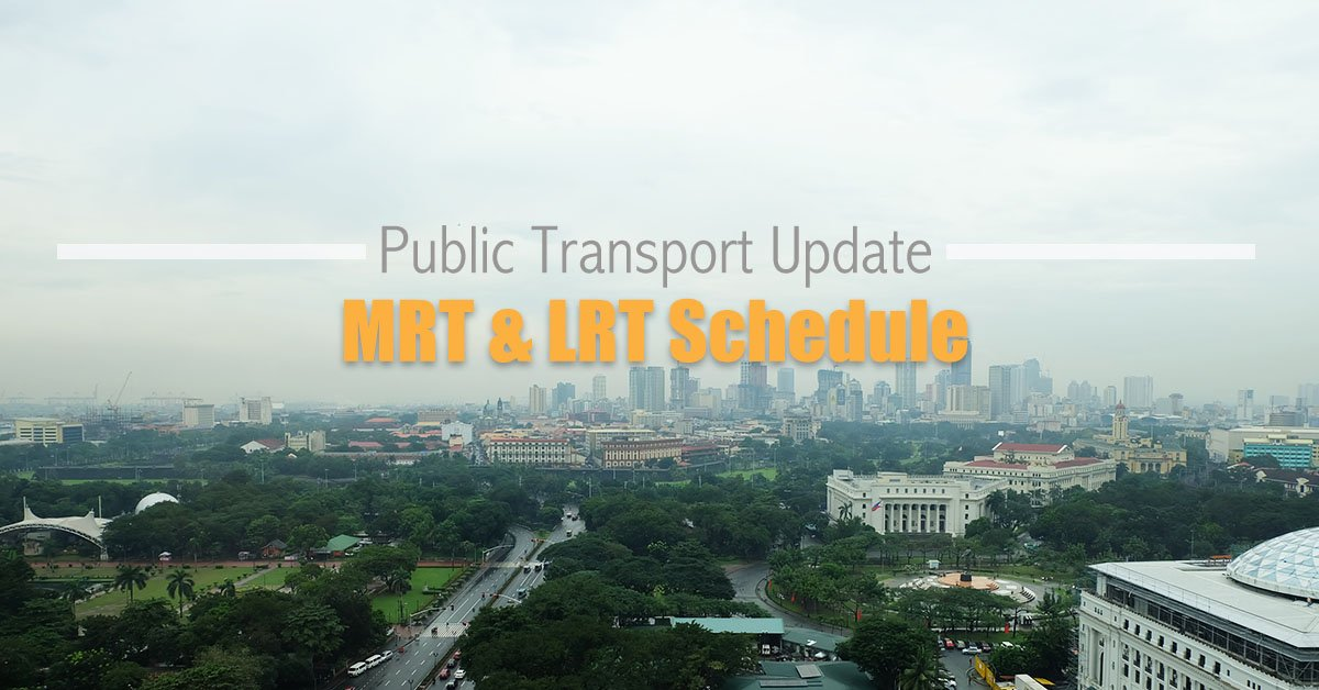 2021 MRT and LRT Schedule under GCQ