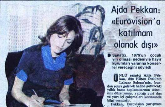 Eurovision'a katılmasının olanak dışı olduğu söyleyen Ajda Pekka'nın bir yıl sonra ülkemizi temsil ettiğini biliyor muydunuz?