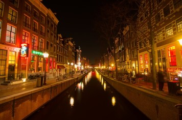 Visit the Red Light District in Amsterdam