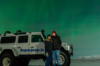 Tom and I making the most of the Northern Lights