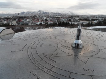 The view of Reykjavik from the Perlan Building