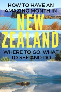 There is so much to do in New Zealand that a month nearly isn't enough. But it is enough to see a LOT! So I've created a month-long itinerary to help you along the way. Click to find out about it!