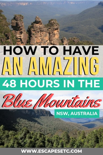 Just a short drive from Sydney you'll find the stunning Blue Mountains National Park. Want to know how to have the best 48 hours in the Blue Mountains? Find out here! #bluemountains #sydney #australlia #nswaustralia #australiaroadtrips #exploresydney #backpackingaustralia