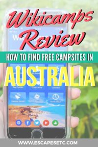 Planning an epic Australian road trip? Wikicamps is the only app you need! Check out my Wikicamps review her and learn how to find the best campsites in Australia. #wikicampsreview #freecampsitesaustralia #australia #australiaroadtrip