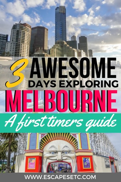 Looking to spend 3 days in Melbourne? It's an awesome place for street art, quirkiness, loads of food and beautiful architecture. Here's my 3 day Melbourne itinerary, perfect for your first time visiting. #3daysinmelbourne #melbourne #australia #visitvictoria #streetart