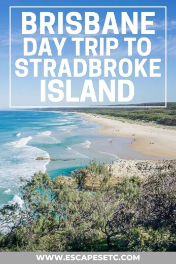 Complete guide on how to take a day trip to Stradbroke Island. Stradbroke Island makes for a great day trip from Brisbane, Australia #stradbrokeisland #thingstodoinbrisbane #brisbanedaytrips #queensland #backpackingaustralia