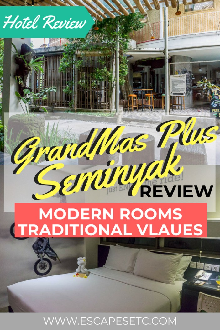 Looking for the perfect hotel in Seminyak? I stayed at the GrandMas Plus Hotel there and it was great! If you want a hotel in a great location with modern facilities but with tradition rooted in it, the GrandMas will be perfect for you. #seminyak #bali #hotelreviews