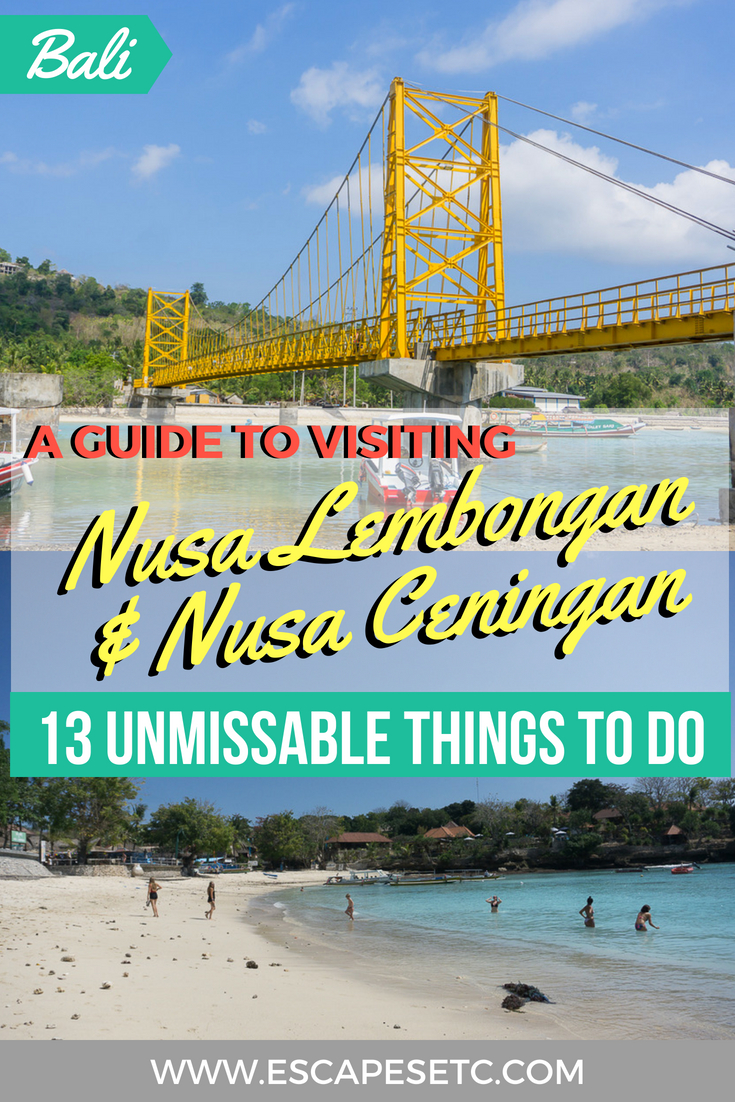 Planning a trip to Bali's Nusa Islands? Here's my guide to visiting Nusa Lembongan and Nusa Ceningan and 13 things you can do. #bali #nusaislands #nusalembongan #nusaceningan
