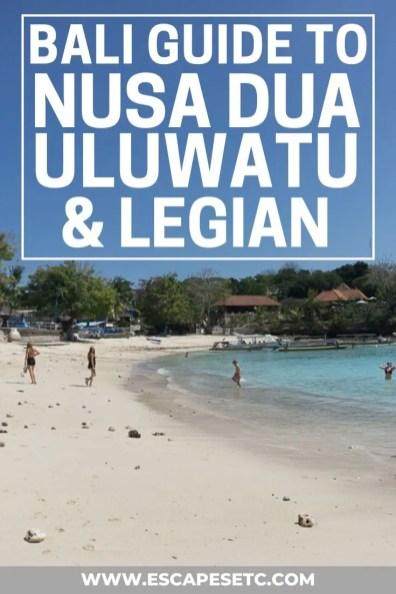 Planning a trip to South Bali? Click here to find out what to do in Uluwatu, Nusa Dua and Legian! #bali #uluwatu #nusadua #legian
