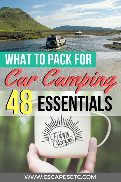 Turning your car into a camper? Being able to sleep in your car is the ultimate way to get roadtrip freedom! Here are your 48 car camping essentials you need to have the best experience! #carcamping #bedincar #roadtripaustralia #australiaroadtrip