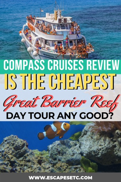 Are you planning a trip to Cairns and looking for the best value Great Barrier Reef Tour? Compass Cruises not only offers an amazing experience where you can snorkel and scuba dive on the reef, but it's also the cheapest reef tour from Cairns. Find out what it has to offer here! #australia #greatbarrierreef #reeftours #bucketlist #australiabucketlist #queensland #queenslandtourism