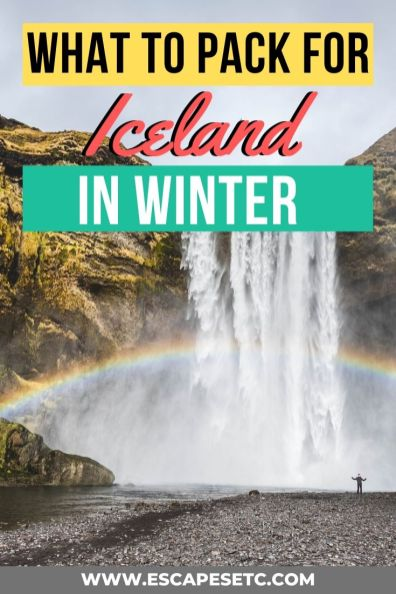 Planning a winter getaway to Iceland? Here's the only packing list you'll need! Find out what to wear in Iceland in Winter and get a full break down of an Iceland packing list. #whattoweariniceland #icelandpackinglist #visiticeland #icelandinwinter #visiticeland #northernlights