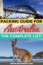 Are you travelling to Australia and need help packing? Here's the ultimate packing guide for all the Essentials for travelling Australia! #australiatravelessentials #packingforaustralia #australiapackinglist