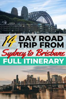 Planning a road trip from Sydney to Brisbane? Deciding what to see between Sydney and Brisbane can be overwhelming, so I've together the ultimate 14 day Sydney to Brisbane drive itinerary to help you see the best places on the Sydney to Brisbane coastal drive #sydneytobrisbane #australiaroadtrip #roadtrip #sydney #brisbane #eastcoastaustralia #backpackingaustralia #budgettravel
