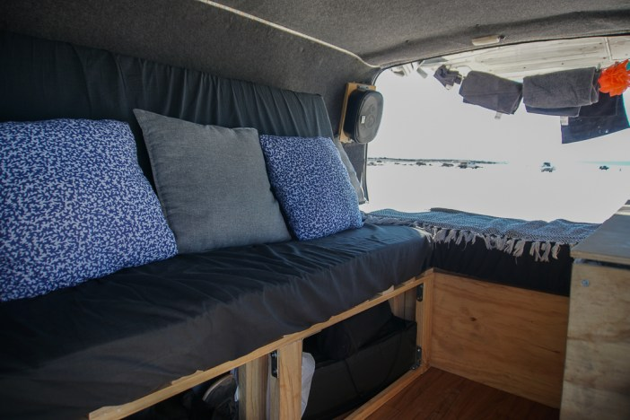 The complete pull out camper van bed