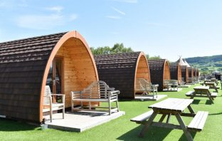 Glamping pods at Surf Snowdonia Wales