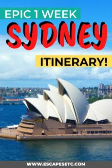 Click here for your ultimate 7 day Sydney Itinerary. This easy to follow guide will show how you how spend a week in Sydney including what to do, how to use the transport, where to stay and where to eat. It's also perfect for visiting Sydney on a budget! #weekinsydney #sydneyaustralia #sydneyitinerary #bestofsydney