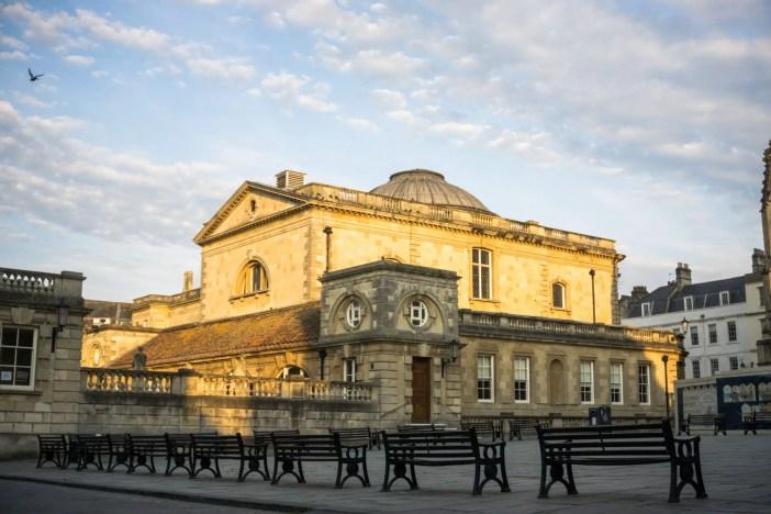 Outside the Roman Baths in Bath, UK
