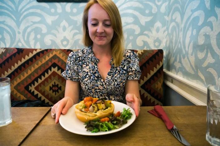 Lunch at Sally Lunn's, Bath UK