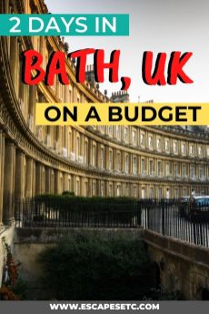 Planning a weekend in Bath, UK? 2 days in Bath is a great amount of time to experience the highlights of this historic city. Click here to find out how to visit Bath on a budget including where to stay, what to do and where to eat. #bathuk #weekendinbath #2daysinbath
