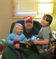 As I told you last week Santa was very nice this year! 3 New Kindle Owners - Grandson Kaden is already on expert. Natalie and Papa are still figuring things out.