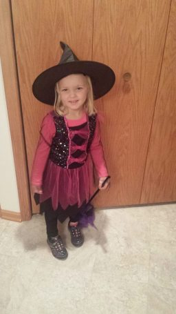 My granddaughter - A Smiling Little Witch