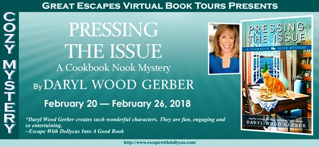 Pressing the issue a cookbook nook mystery by daryl wood gerber pressing the issue a cookbook nook mystery fandeluxe Images