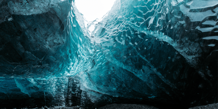 Enter Bluest Ice Cave