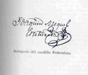Firma Joaquín Miguel Gutiérrez. Fuente:  AFHC