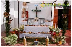 Altar Zoque en la Iglesia de San Pascualito