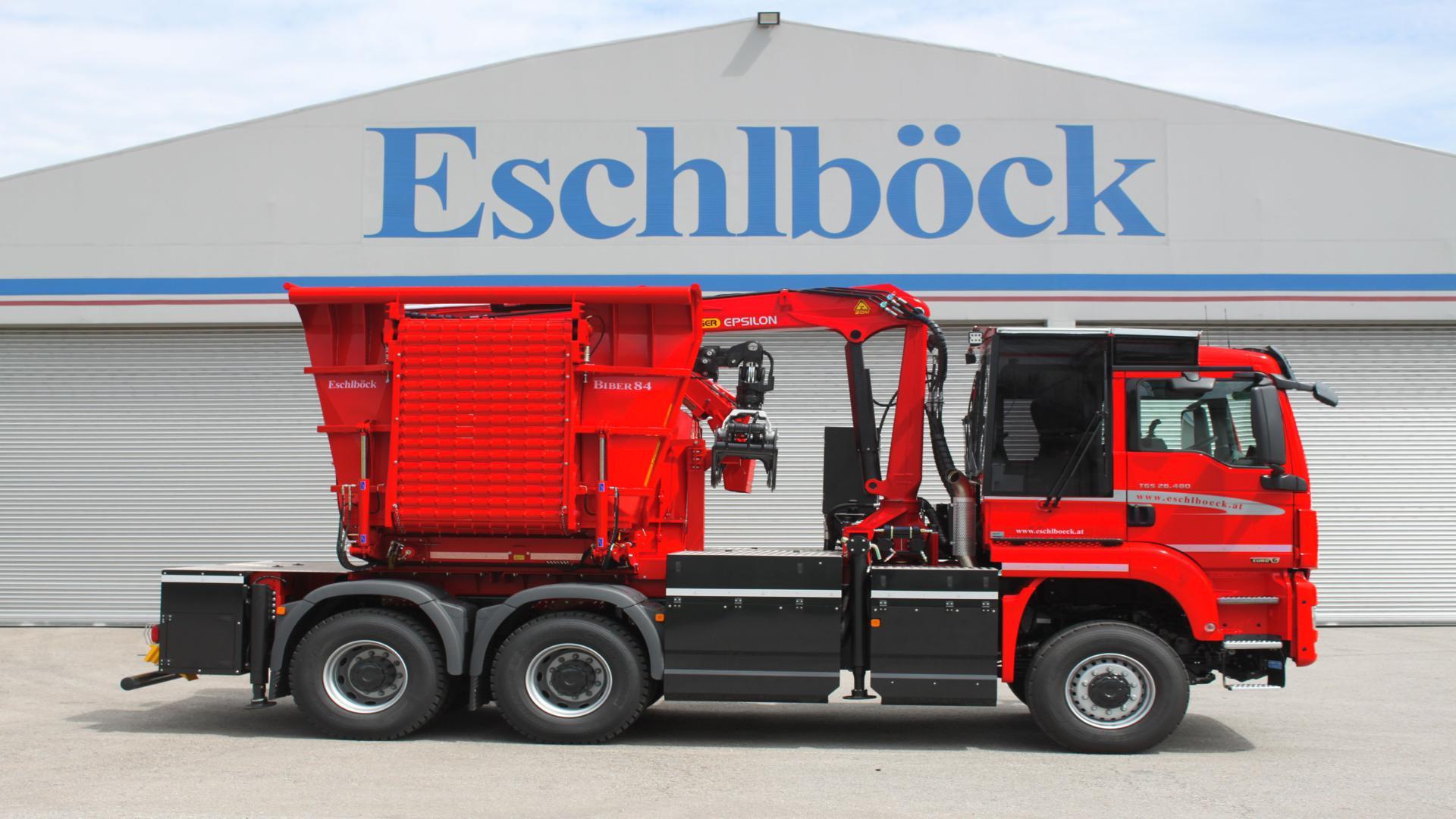 Eschlböck Biber 84 RMZ Holzhackmaschine MAN