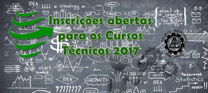 Inscrições para os Cursos Técnicos 2017(ENCERRADO)