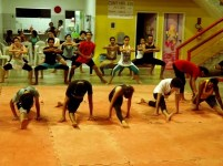 Aula do Curso de Iniciação às Artes Circenses 2013.1