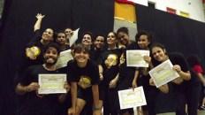 Certificados pelo Curso de Iniciação às Artes Circenses 2014.1