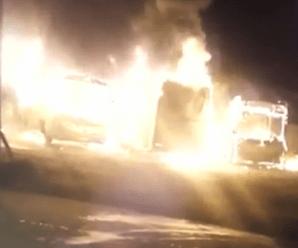 Ônibus escolares são incendiados em Embu-Guaçu e vaquinha é feita para comprar novos veículos