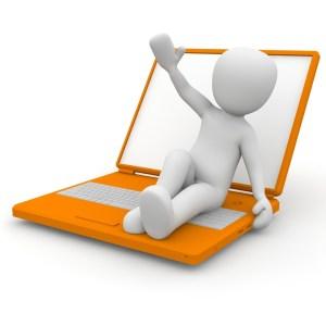 Man sitting on laptop