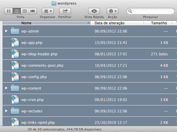 seleccionar ficheiros