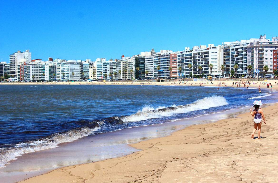 Fotos de viagem - Playa de Pocitos, Montevidéu (Uruguai)