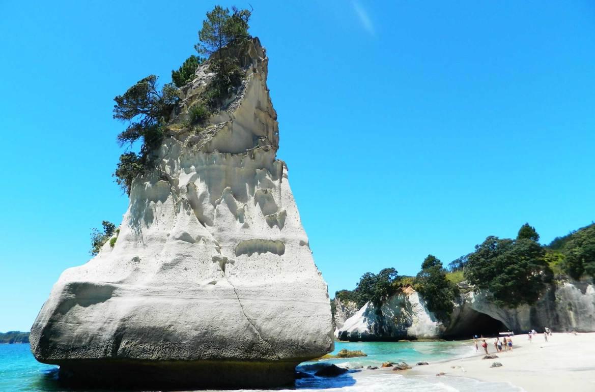 Fotos de viagem - Praia de Cathedral Cove, Hahei (Nova Zelândia)