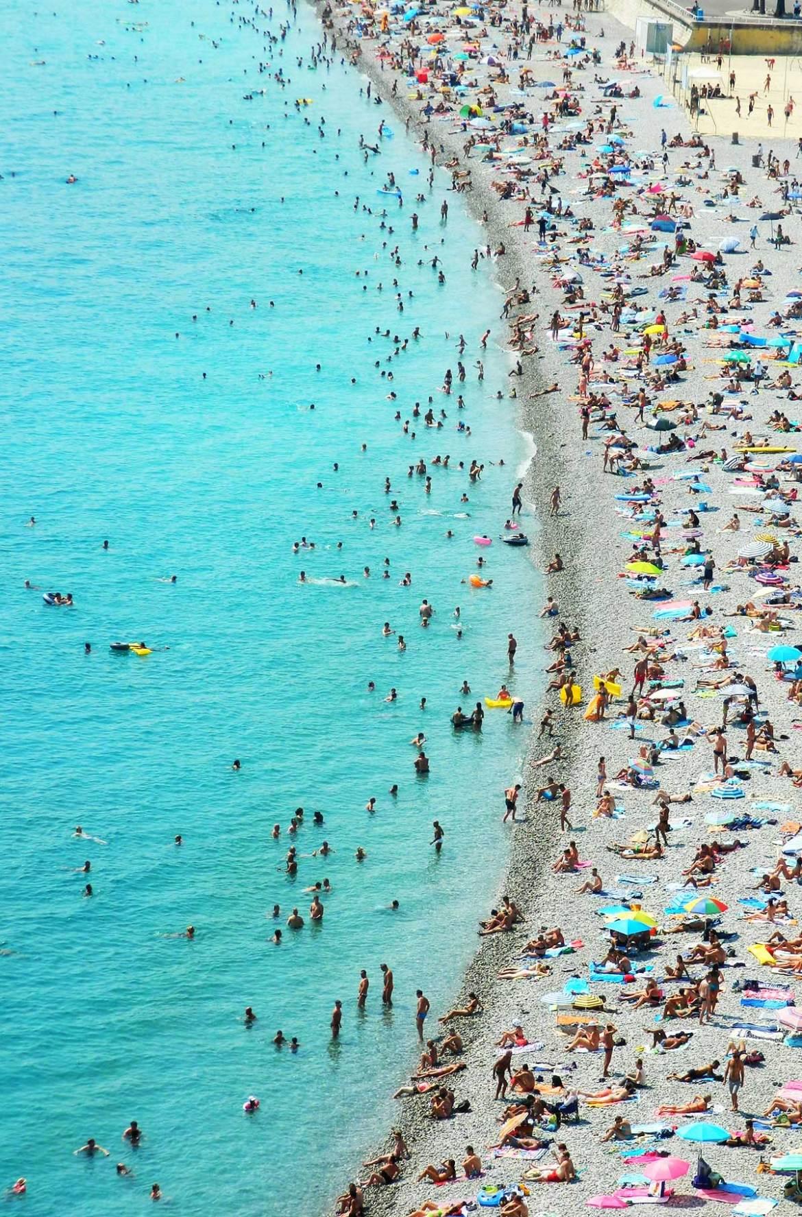 Fotos de viagem - Praia de Nice (França)