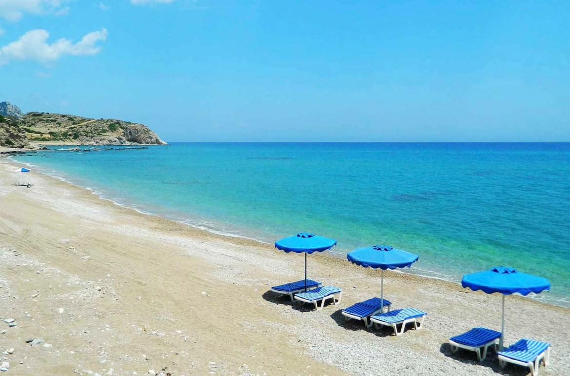 Praias mais lindas do mundo - Praia de Traganou, na Ilha de Rhodes (Grécia)